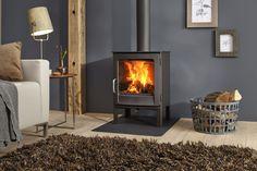 Ivar 5 High EA - Dik Geurts freestanding wood or multifuel stove. Wood Burning Logs, Log Burning Stoves, Wood Burner Fireplace, Wood Burning Fireplace Inserts, Stove Accessories, Fireplace Accessories, Into The Woods, Wall Gas Fires, Log Burner Living Room