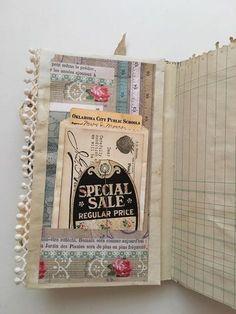 Tsunami Rose Designs: DT Project: Beth Wallen- Vintage Mini Junk Journal using various Ephemera Packs Glue Book, Journal Diary, Junk Journal, Fabric Journals, Journal Paper, Art Journals, Fabric Books, Vintage Journals, Handmade Journals