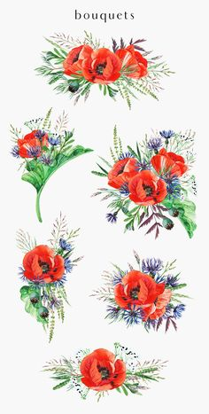 by anyuka on Watercolor Illustration, Graphic Illustration, Watercolor Flowers, Watercolor Art, Poppy Wreath, Wreath Tattoo, Flower Drawing Tutorials, Fused Glass Art, Cool Artwork