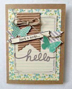 Guest designer KDavidson - Just A Note Card via Jillibean Soup Blog