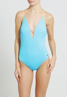 Bañador  de mujer color azul claro de Oxbow Oxbow LETIUM Bañador lagon bain Ofertas en Zalando.es | Material exterior: 90% poliamida, 10% elastano | Ofertas ¡Haz tu pedido en Zalando.es y disfruta de gastos de enví-o gratuitos! #bañador #swimsuit #monokini #maillot #onepiece #bathingsuit
