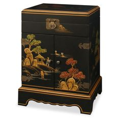18in Chinoiserie Jewelry Chest