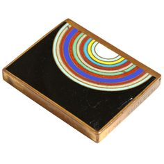 Art Deco Copper and Champlevé Enamel Box by Jean Goulden   From a unique collection of antique and modern boxes at http://www.1stdibs.com/furniture/more-furniture-collectibles/boxes/