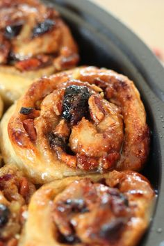 Apple Cranberry and Pecan Sticky Buns
