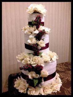 bridal shower towel cake   Wedding Shower: Towel Cake   shower ideas