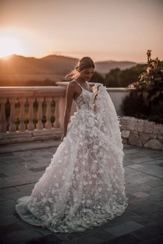 All you need is a beautiful sunset and a Galia Lahav couture wedding gown. The, All you need is a beautiful sunset and a Galia Lahav couture wedding gown. The All you need is a beautiful sunset and a Galia Lahav couture wedding go. Couture Wedding Gowns, Wedding Dress Trends, Dream Wedding Dresses, Bridal Dresses, Prom Dresses, Tulle Wedding, Boho Wedding, Lace Weddings, Sunset Wedding