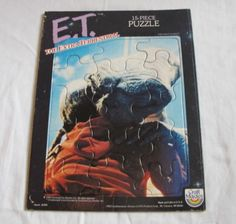 """Vintage E.T. Frame Tray Puzzle 1982 Craft Master 8x11"""" Extra Terrestrial 15 Pcs"""