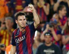 Messi celebra el primer gol del Barça a la Lliga 2014/15 / FOTO: MIGUEL RUIZ-FCB