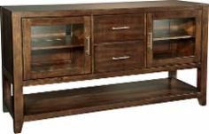 """Whalen Furniture - High Console TV Stand for Flat-Panel TVs Up to 65"""" - Cherry - BBHC60DBC - Best Buy"""