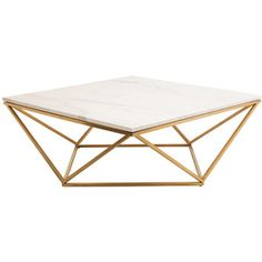 Nuevo Jasmine Coffee Table In White Marble Finish