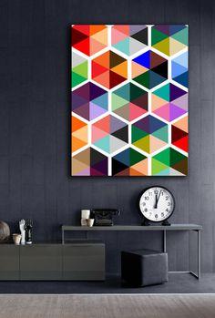 Hexagon Print Poster PRINTABLE 6 sizes/ same price by Dantell