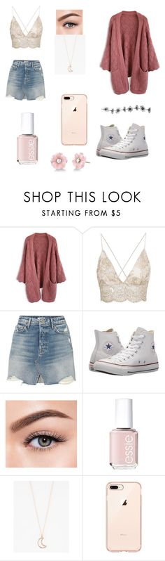 """Untitled #23"" by dessyhart on Polyvore featuring Chicwish, GRLFRND, Converse, Morphe, Essie, Full Tilt and Irene Neuwirth"