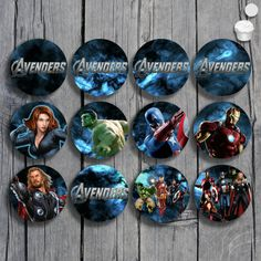 Avengers Cupcake Toppers Set Printable by KeiraKloset on Etsy