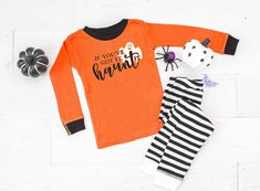 If You've Got it Haunt It Infant & Toddler Halloween Pajamas - baby halloween pjs - fall pajamas for babies- pyjamas for babies and kids by TwinkleTwinkleTees on Etsy Halloween Pajamas, Toddler Halloween, Kids Pajamas, Pyjamas, Pj Sets, Striped Shorts, Trick Or Treat, Infant Toddler, 6 Months