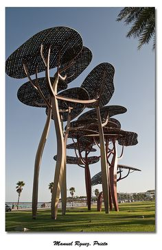 This is the only thing I remember about the short Spain portion of my Eurotrip in college. These cool sculptures in La Pineda (Tarragona) Spain - by the beach. Photo by: Manuel Rguez. Prieto via flickr