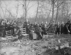 Funeral services for Floyd Collins, whose body was found buried in debris in Sand Cave where he had been imprisoned for 2 weeks. Seated in the center are his parents, Mr. Get premium, high resolution news photos at Getty Images Floyd Collins, Cave City, Mammoth Cave, Roaring 20s, Bury, Nifty, Funeral, Real Life, Dolores Park