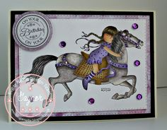 Sugar Nellie - the runaway Girl Birthday Cards, It's Your Birthday, Unicorn Horse, Western Theme, Hobbies And Crafts, Homemade Cards, Little Girls, Cross Stitch, Card Making