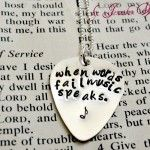 Necklace Sterling Silver guitar Pick Music Speaks 2 150x150 Hand stamped Necklaces