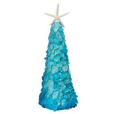 Nate Ricketts Design Teal Sea Glass Specialty Tree