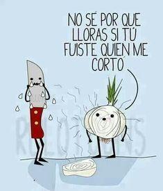 Spanish jokes for kids, chistes para niños. ¿Que le dice la cebolla al cuchillo? #learn #spanish #jokes http://www.gorditosenlucha.com/