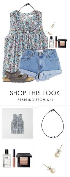 """"" by flroasburn ❤ liked on Polyvore featuring Abercrombie & Fitch, Levi's, Bobbi Brown Cosmetics, J.Crew and Birkenstock"