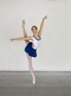Ballet Leotard in HORSESHOE Style Open Back by LuckyleoDancewear. Gisele Bethea