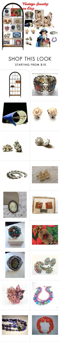 """""""Vintage Jewelry on Etsy!"""" by luckystanlv on Polyvore featuring Home Decorators Collection, Aksel, Carolee and vintage"""