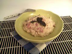 Risotto al gorgonzola con speck e funghi porcini