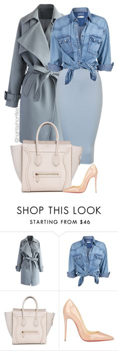 """""""Baby Blue"""" by highfashionfiles ❤ liked on Polyvore featuring moda, Chicwish, Soul Cal e Christian Louboutin"""