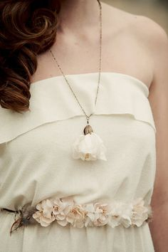 Blossom necklace.