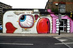 Amazing street art in East London near the Columbia Road Flower Market