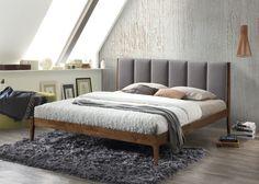 Baxton Studio Rachele Mid-Century Fabric and Wood Full Size Platform Bed