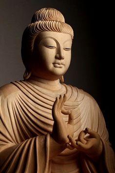 Shakyamuni Buddha in the 'Turning the Wheel of Dharma' Gesture Amitabha Buddha, Gautama Buddha, Buddha Buddhism, Buddhist Art, Buddha Tattoo Design, Buddha Tattoos, Hindu Tattoos, Symbol Tattoos, Buddha Face