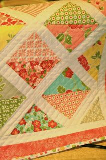 Marmalade quilt .. replace the white with the blue/white stripe that I have plenty of ... think it would look funky.