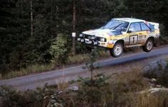 Audi Quattro flying in Finland