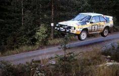 Audi Quattro flying in Finland