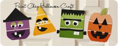 Paint Chip Halloween Craft  for kids #halloween #kidcraft - Liz on Call