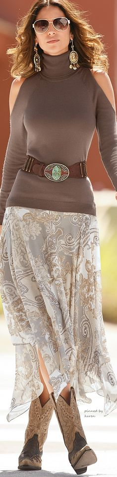 Sexy Southwest with a paisley skirt