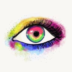 Nyt käynnissä päivä 2/3 Adobe Max -tapahtumaa, töiden ohessa silmäillyt lähetyksiä odottanut milloin saa ladata päivitykset 😁  Tänäänhän ne tulivat, eli iltapuuhana uusien ominaisuuksien testailua 😍  #adobeskecth #adobemax #colourful #eye #rainbow #colours #yogabook #watercolour & #oilpainting #combo #lakkadsign #art My Arts, Instagram