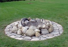 Image detail for -... projects was to add a flagstone border around an existing fire pit
