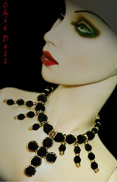 """Necklace and earring set for 17"""" Fashion dolls by ChicDoll"""