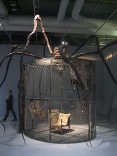 In the 1990s, while in her eighties, Louise Bourgeois devoted herself to the creation of these magical chambers, the Cells, in which she gathers objects that are dear to her and which are invested with a strong emotional charge. The Cells are places where she unravels the fabric of her memories and her emotions.'