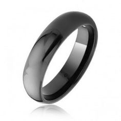 Black Tungsten Mens Dome Wedding Band Ring 6mm, $329.98
