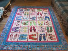 Flip Flop/sandals quilt by justflyingin from the quiltingboard , love ,love love this design
