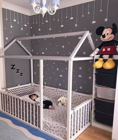 Toddler Floor Bed - perfect for wriggly little ones, so they can't fall out! Toddler Floor Bed – perfect for wriggly little ones, so they can't fall out! We love the grey a Baby Bedroom, Baby Boy Rooms, Baby Boy Nurseries, Girls Bedroom, Bedroom Decor, Bedroom Ideas, Bedroom Lighting, Nursery Ideas, Bedroom Furniture
