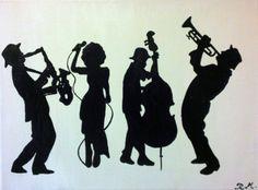 DIGITAL DOWNLOAD Jazz Abstract Art Print  by RanaMuasherArt