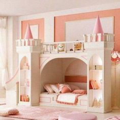 The Princess Castle Bed With Stair And Slide And Bookshelves , The Princess Castle Bedroom In Bedroom Category