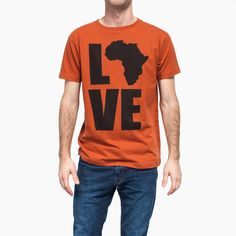 Shop the original LOVE Africa Shirt from Krochet Kids intl. Make a bold statement with the symbol that started it all.
