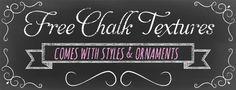 Free Chalk Board Textures Kit & Adorable Chalk Style Fonts - StarSunflower Studio