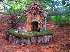 homemade fairy houses | Homemade Fairy Houses | Pine Hollow a OOAK Outdoor Fairy Home by ...